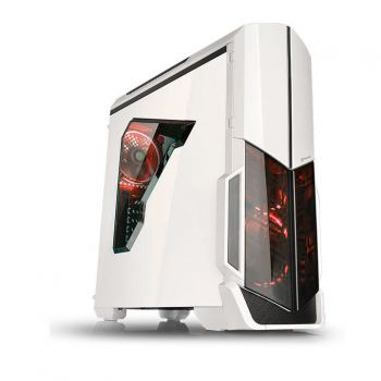 Gabinete Versa N21 Snow Red Led c/ Janela Lateral - Thermaltake