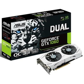 Placa de Vídeo GeForce GTX 1060 3GB DDR5 DUAL - ASUS