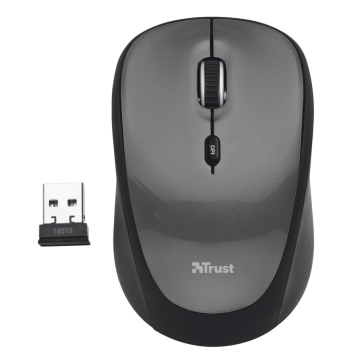 Mouse Wireless YVI Preto 1600DPI - Trust