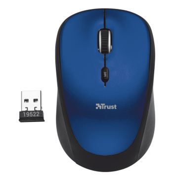Mouse Wireless YVI Azul 1600DPI - Trust