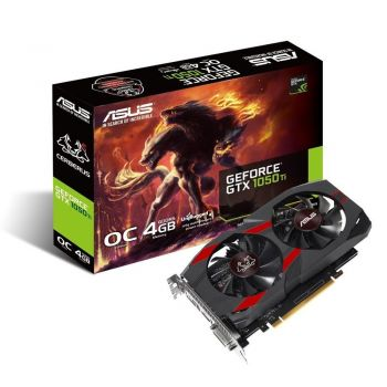 Placa de Vídeo GeForce GTX 1050TI OC 4GB DDR5 Cerberus Dual Fans - Asus