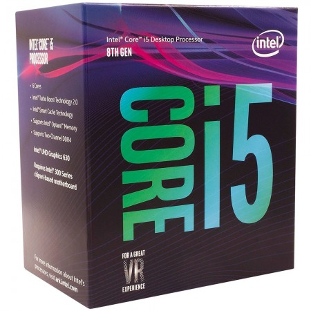 Processador Core i5-8400 Coffee Lake 2.8GHz 9MB LGA 1151 - Intel  - foto principal 1