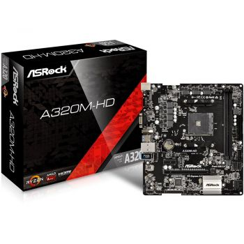 Placa Mãe A320M-HD AM4 DDR4 - ASRock