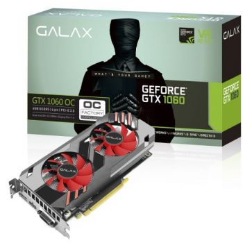 Placa de Vídeo GeForce GTX 1060 OC 6GB GDDR5  - GALAX