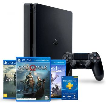 PlayStation 4 1TB Slim Hits 3 Jogos + 3 meses playstation Plus - SONY