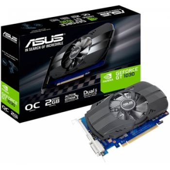 Placa de Video GeForce GT 1030 2GB DDR5 OC - ASUS