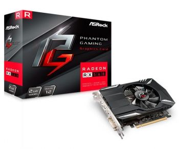 Placa de Vídeo Radeon RX 560 Phantom 2GB  DDR5 - ASRock