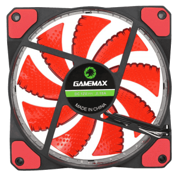 Case Fan GMX-GF12R 120mm Led Vermelho - GameMax