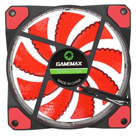 Case Fan GMX-GF12R 120mm Led Vermelho - GameMax  - foto principal 1