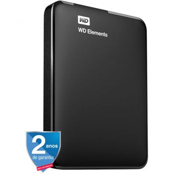 HD Externo Portátil Elements USB 3.0 1TB Preto - WD