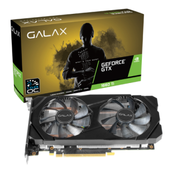 Placa de Vídeo GeForce GTX 1660TI 6GB DDR6 1 Click OC - Galax