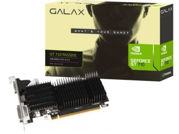Placa de Vídeo GeForce GT  710 1GB DDR3 - Galax