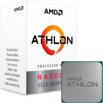 Processador ATHLON 220GE 3.4GHz Dual Core 5MB Radeon VEGA 3 AM4 - AMD