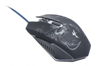 Mouse Gamer Fighter Usb 2400dpi Ciclo Luz Interna com 7 cores