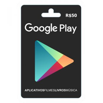 Cartão Google Play Store Gift Card R$50 Reais Br Android