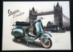 Quadro Vintage Vespa Mod London