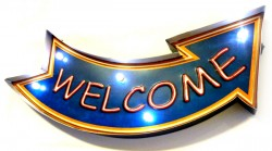 Luminoso Metalico Vintage Welcome Mod FYY-115  - foto principal 1