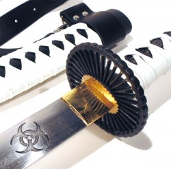 samurai swords Zombie white and black trava de segurança Mod SS3350BK  - foto principal 1