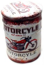 Puff Metalico Vintage Motorcyle Legend Mod 514 Pequeno