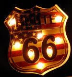 Luminoso Metalico Vintage Route 66 Mod FYY-213