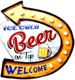 Luminoso Metalico Vintage Beer on Top Welcome Mod FYY-611B