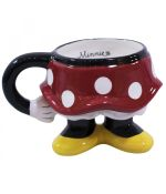 Caneca Porcelana Corpo Minnie 3D  Disney