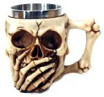 Caneca Viking Head Skull do not speak evil 950B