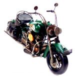 Miniatura Motocicleta Chopper Vintage  Indian  Verde 1208GREEN