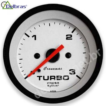 Pressão do Turbo 3Kgf/cm² - ø52mm - Cronomac Street Branco