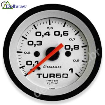 Pressão do Turbo 1 Kgf/cm² - ø52mm - Cronomac Street Branco