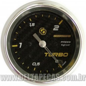 Pressão do Turbo 2Kgf/cm² - ø60mm - Fibra Carbono
