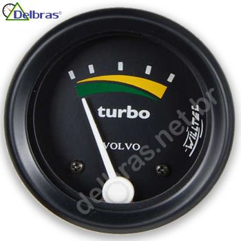 Pressão do Turbo 2KG - ø60mm - Aro Preto | VOLVO |