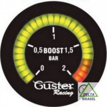 Pressão Turbo 52mm Digital com leds progressivos - c/ sensor 0 a 5 Bar | GUSTER |