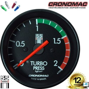 Pressão do Turbo 2kgf/cm² - ø60mm - Cronomac Opala SS Series