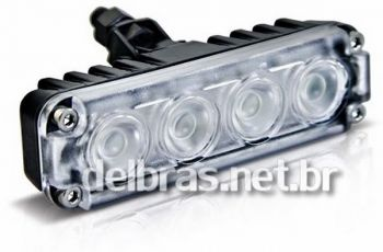 Farol Auxiliar Slim 35W 12/24V - Power Led VERDE - Autopoli