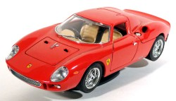 Ferrari 250 Lemans 1965 Red 1/18 Burago Made in Italy  - foto principal 1