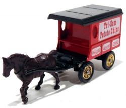 Horse Drawn Delivery Van Tri-Sum Potato Chip Lledo Days Gone  - foto principal 1