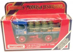 Atkinson D Type Steam Lorry 1918 1/60 Matchbox Models of Yestertear Y-18  - foto principal 2