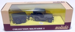 Jeep Remorque Militaire 1/43 Solido Made in France  - foto principal 3