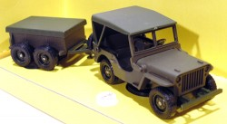 Jeep Remorque Militaire 1/43 Solido Made in France  - foto principal 1