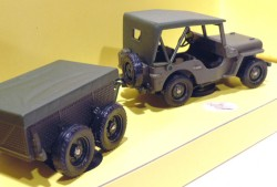 Jeep Remorque Militaire 1/43 Solido Made in France  - foto principal 2