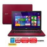 Notebook Acer E5-571-51AF Intel Core i5 4GB 1TB Tela LED 15.6'' Windows 8.1 - Vermelho