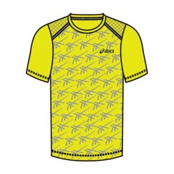 Camiseta Asics M Training SS Safety Yellow Heather Grey  - foto principal 1