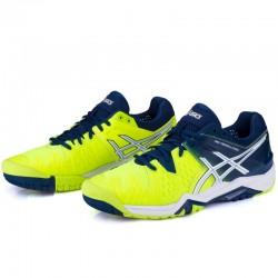 Tênis Asics Gel Resolution 6 Safety Yellow Poseidon All Court  - foto principal 3