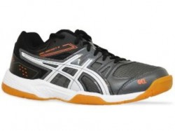 Tênis Asics Gel Rocket 7 A Charcoal White Black  - foto principal 2