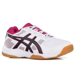 Tênis Asics Gel Rocket 8 A White Black Bright Rose Feminino  - foto principal 1
