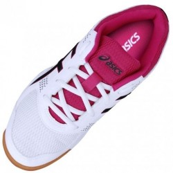 Tênis Asics Gel Rocket 8 A White Black Bright Rose Feminino  - foto principal 2