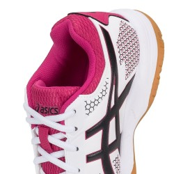 Tênis Asics Gel Rocket 8 A White Black Bright Rose Feminino  - foto principal 3