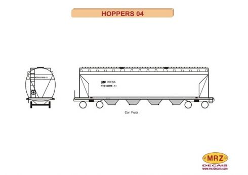 Decal Vagão Hopper - MRZ – HOP04