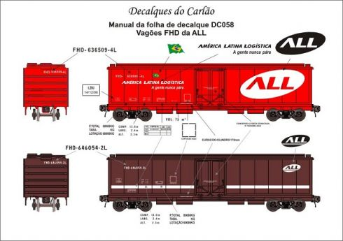 Decal Vagão Fechado Hopper da ALL - CARLÃO - DC058